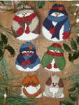 Rachel's of Greenfield Mittens Snow Folks Ornaments Kit